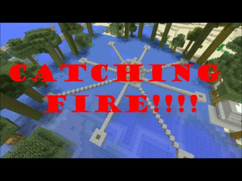 MINECRAFT CATCHING FIRE MAP! (PS3 Edition) Minecraft HungerGames