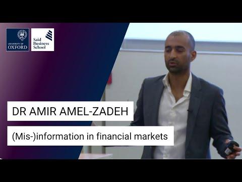 Dr Amir Amel-Zadeh: (Mis-)information in financial markets