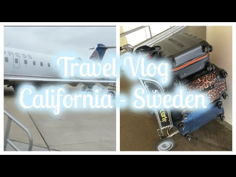 Travel Vlog | My Journey From USA - Sweden ♡