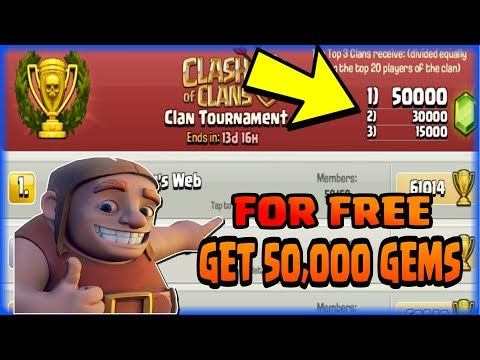 GET 👉50,000💍 FREE GEMS👈 IN CLASH OF CLANS l 100% REAL l