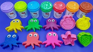 Learn Colors with Play Doh Squids & Cookie Modelling Clay | Disney Frozen Surprise Eggs