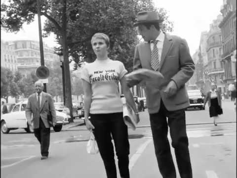 Jean Seberg wearing a NY Herald Tribune t-shirt in Breathless, 1960