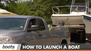 How to Launch a Boat on a Trailer