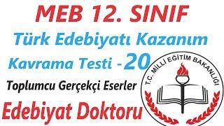MEB 12. Sınıf Kazanım Kavrama Testi Edebiyat Çözümleri 20