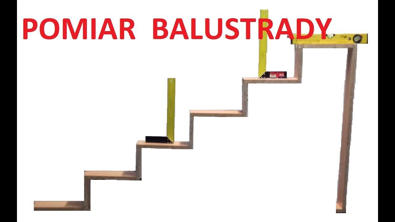 Zaawansowane Pomiar balustrady schodowej - YouTube EQ74