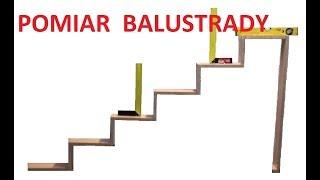Pomiar balustrady schodowej