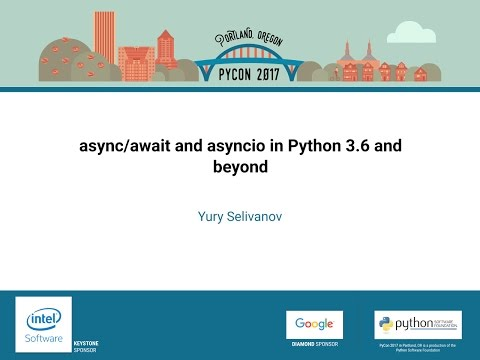 Image from async/await and asyncio in Python 3.6 and beyond