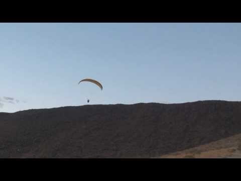 Paragliding At Jean Ridge Las Vegas. Big-ears Landing