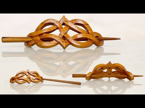 Handmade Wooden Seltic Hair Pin Barrette   Wooden Jewelry For Women and Men