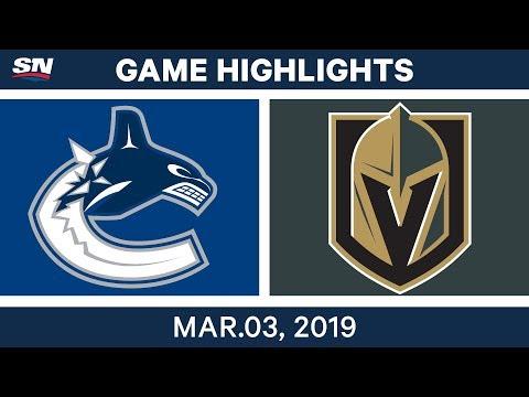 NHL Highlights | Canucks vs. Golden Knights – Mar 3, 2019