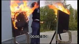 Carbon sandwich fire test