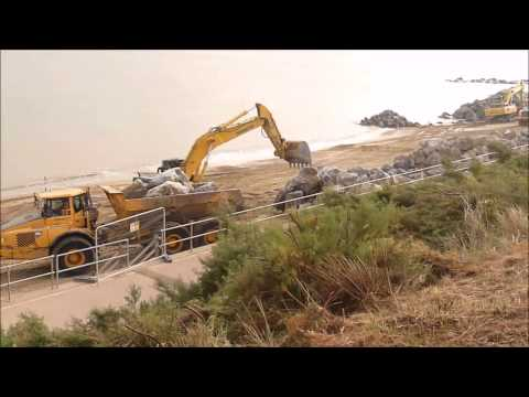 Holland Haven Coastal Defence Works 2014