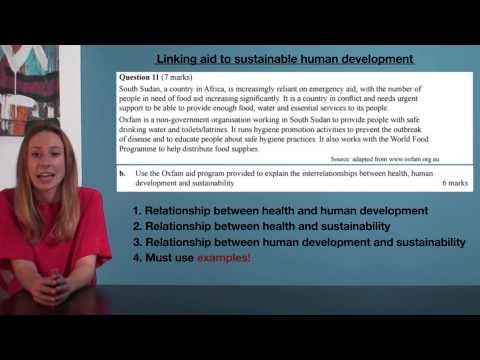 VCE HHD - Linking aid to sustainable human development