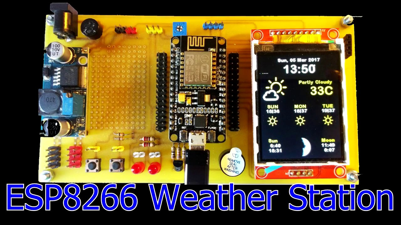 ESP8266 Weather Station with Color TFTLCD