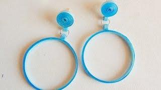 quilling Ball hoop Earring - DIY