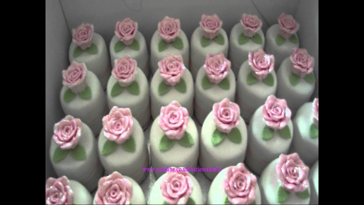 5 Tier Wedding Cake With 70 Mini Cakes YouTube - Mini Wedding Cake Mold