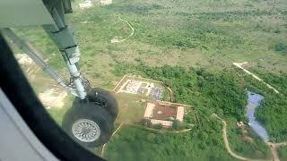 Landing at Jabalpur Airport | Aerial view of Narmada River & Jabalpur | Bombardier Q 400
