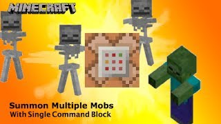 Summon Multiple Custom Mobs with ONE Command block Minecraft 1.7