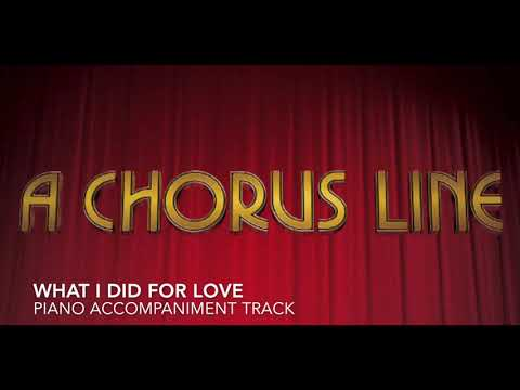 What I Did for Love  A Chorus Line  Piano AccompanimentRehearsal Track
