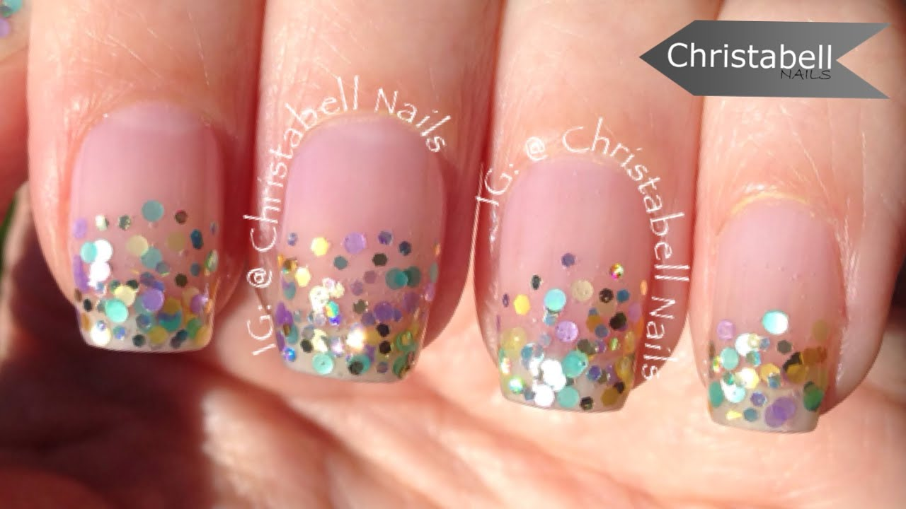 ChristabellNails Glitter Gradient Tip Nail Art Tutorial - YouTube