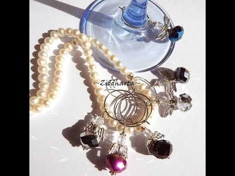 DIY Tutorials beading & Jewelry making: Wineglass Charms – Vinglas-markörer – material-kit