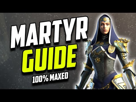 MARTYR FULLY MAXED OUT GUIDE - GAMEPLAY - MASTERIES | RAID SHADOW LEGENDS