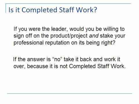 Completed Staff Work: An Overview