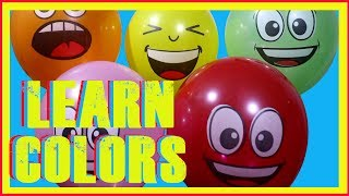 Learn Colors with Giant Balloons Popping for Kids Learning Colours Fun Curly Kidz Educational Video