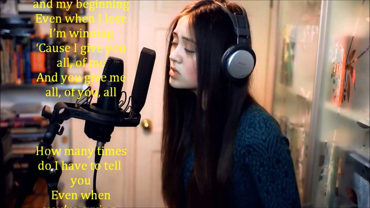 All of Me John Legend ,Lyrics and karaoke Cover By Jasmine ...