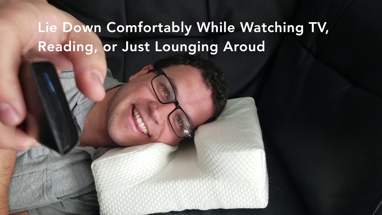 the pillow designed with your glasses in mind