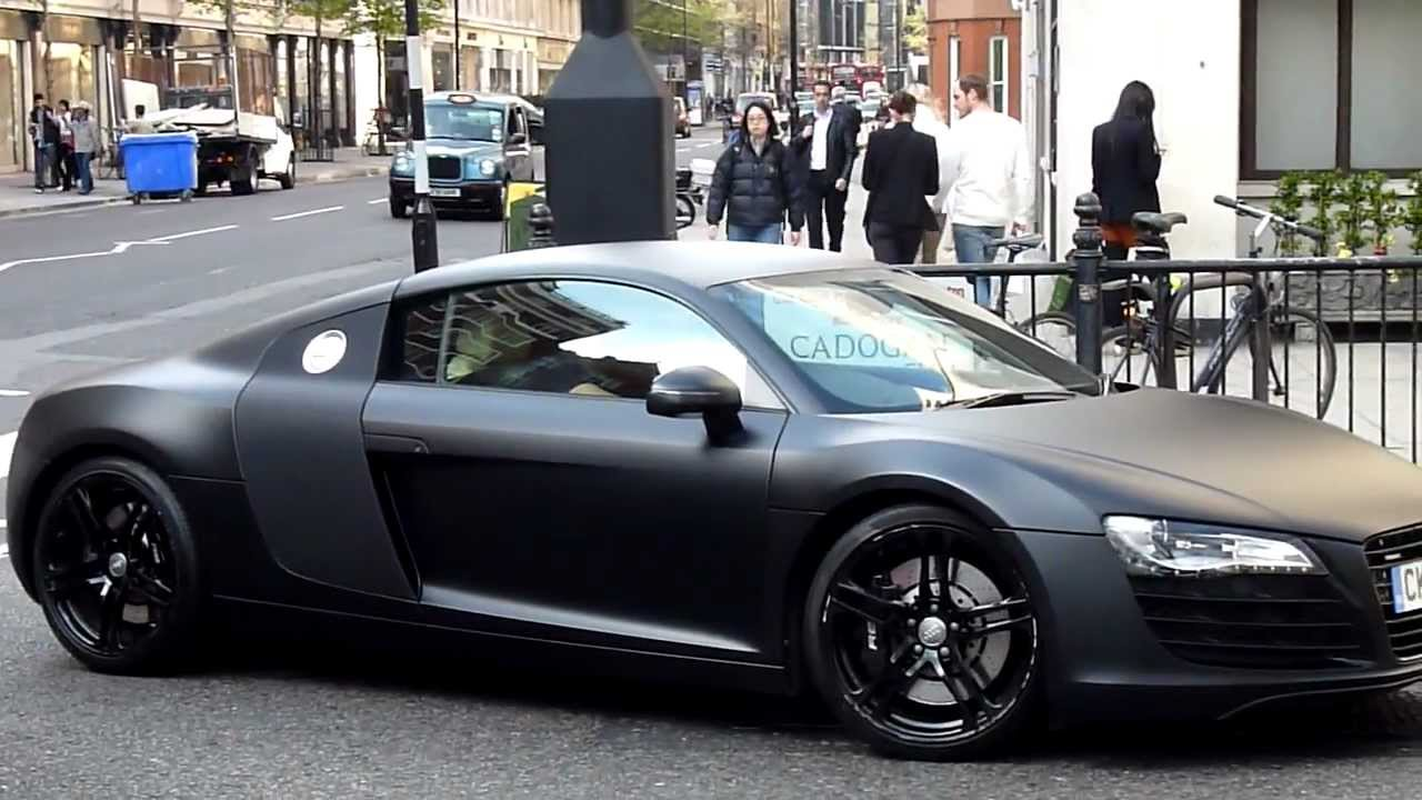 Matte Black Audi R Acceleration YouTube - Audi r8 black