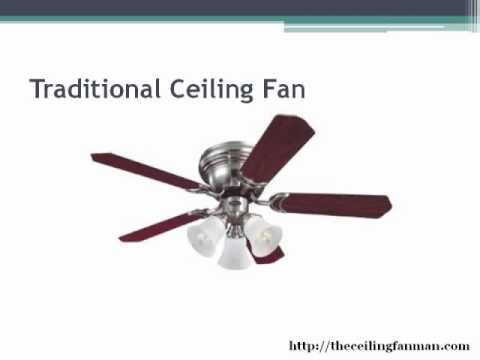 3 types of ceiling fans
