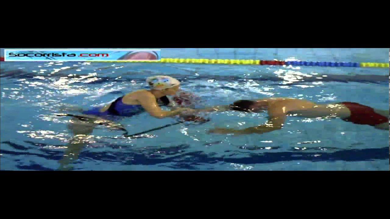 Socorrista entrega tubo de rescate a victima pasiva youtube - Socorrista de piscina ...