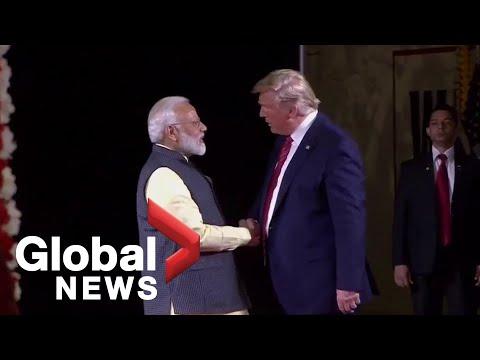 Donald Trump joins Indian PM Narendra Modi for 'Howdy, Modi' event