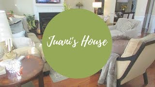 VLOGUST DAY 7- TRANSITIONING LIVING ROOM TOUR