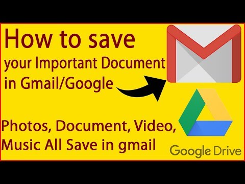 How To Save Your Important Document, Photos, Videos, Etc.. Save In Gmail/google Drive