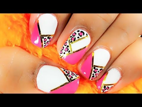 Easy nail art design for beginners || Striping tape ...