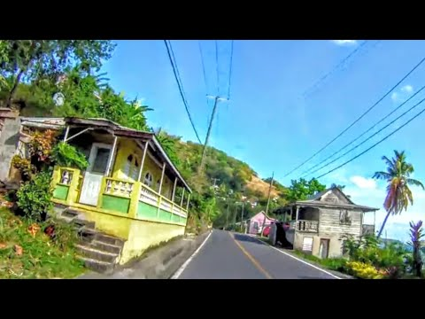 Driving from beautiful Dominica Mero Beach to Roseau 5 month