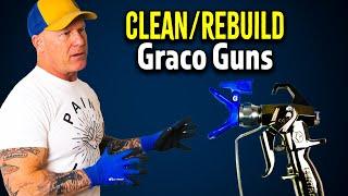 How To Clean & Rebuild A Graco Contractor Ii Gun.  Graco Sprayer Tips.