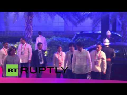 Philippines: World leaders arrive as APEC summit gets underway