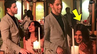 Aww ! Priyanka Chopra blushing with hubby Nick Jonas as they share romantic moment !❤