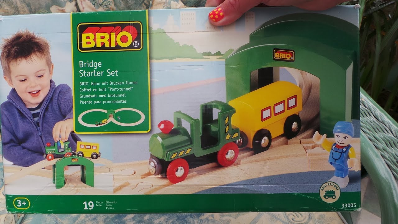 Playing With The Brio Starter Set Toy Wooden Train Set