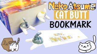 DIY CAT BUTTS BOOKMARK  How to make Neko Atsume Polymer Clay tutorial craft DIY