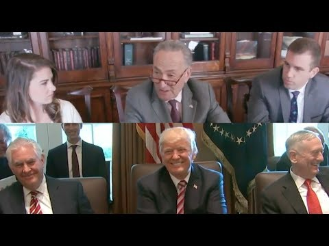 Chuck Schumer HILARIOUSLY MOCKS Donald Trump & His Cabinet Puppets!