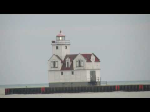 Kewaunee lighthouse from Father Marquette Park 1 2 17