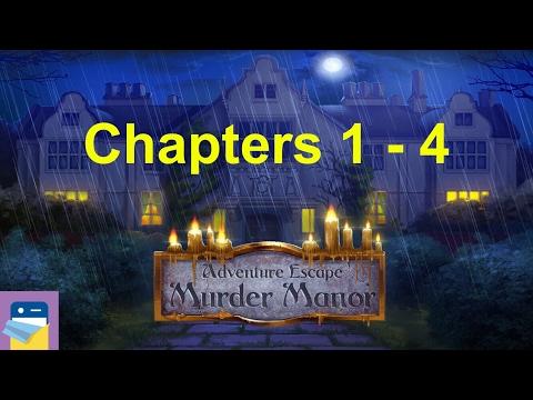 Adventure Escape: Murder Manor: Walkthrough:Chapters 1, 2, 3, 4