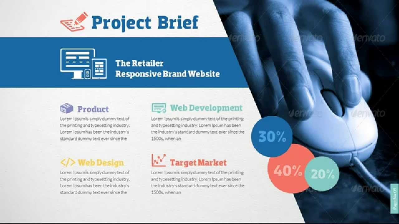 web design & development project presentation template - youtube, Powerpoint templates