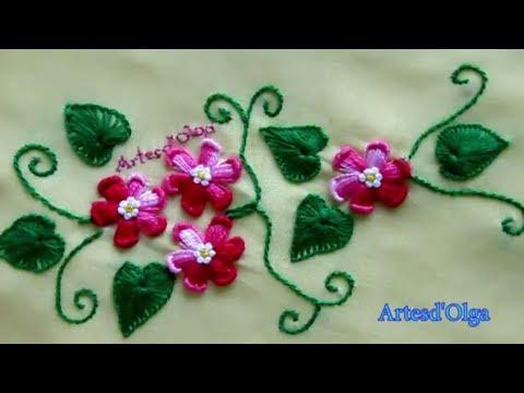 Hand embroidery design for blouse  Blusa bordada a mano  ArtesdOlga