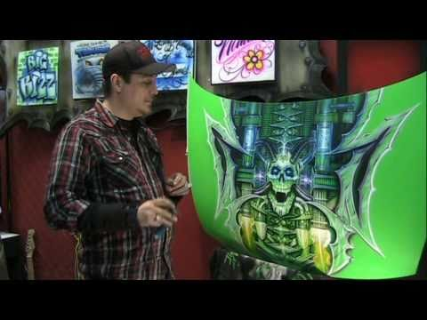 "PURE IMAGE DESIGN - PART 2  "" TIPS ON AIRBRUSHING A UNIQUE CAR HOOD """