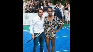 Rafael Nadal and Venus Williams Play Badminton